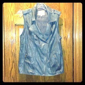 Lucky brand leather moto vest